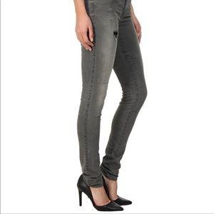 New Diesel designer grey gray black skinny jeans